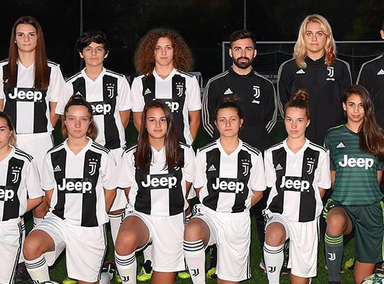 Juventus FC women U17 at women's soccer tournament