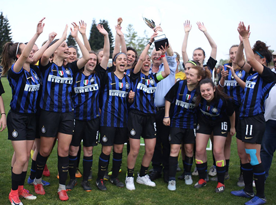 Inter FC celebrates victory at women's football tournament
